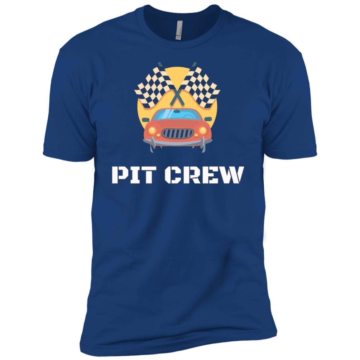 Pit Crew Hosting Race Car Parties Flag Kids Parents Men Short Sleeve T-Shirt