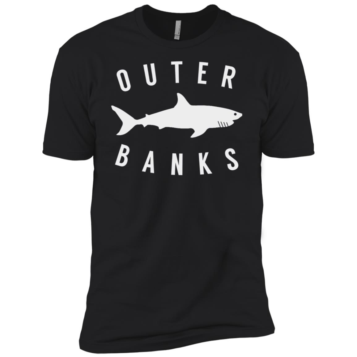 Outer Banks Nc Shark Obx North Carolina Vintage Tee Men Short Sleeve T-Shirt