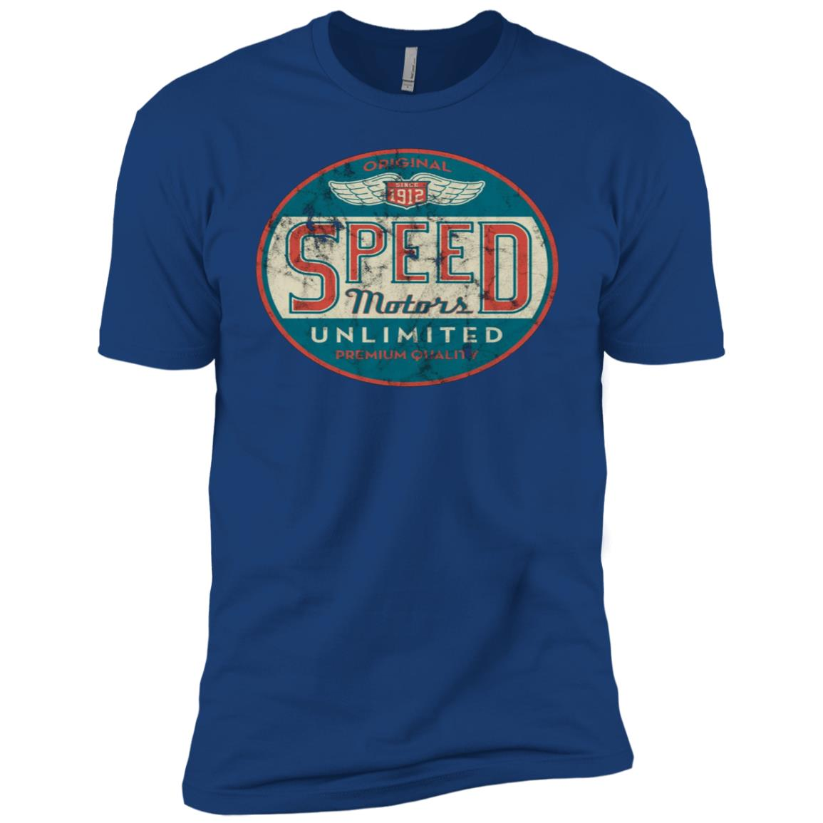 Vintage Speed Motor (distresseds women & men) Men Short Sleeve T-Shirt