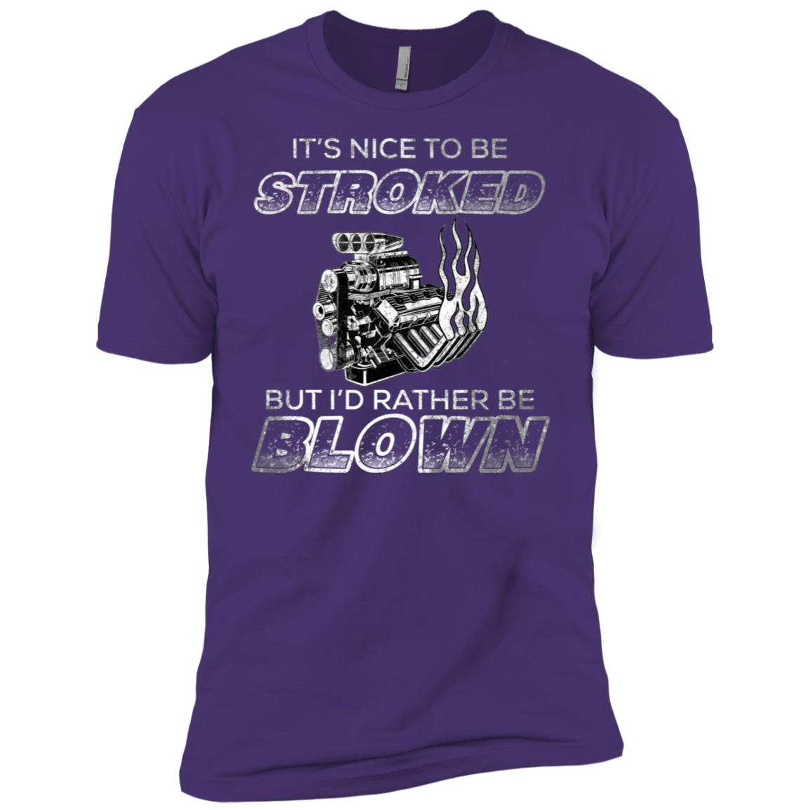 Vintage Racing Its nice to be stroked Funny Racing Men Short Sleeve T-Shirt