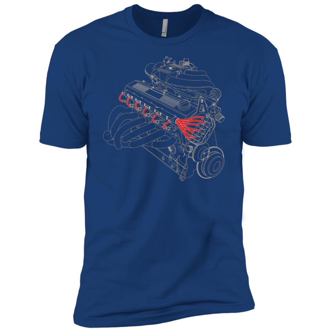 Vintage Racing Inline 6 Engine Men Short Sleeve T-Shirt