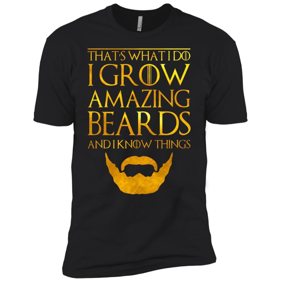 Black Beard for Mens Women Bearded Man Beast Gang Men Short Sleeve T-Shirt