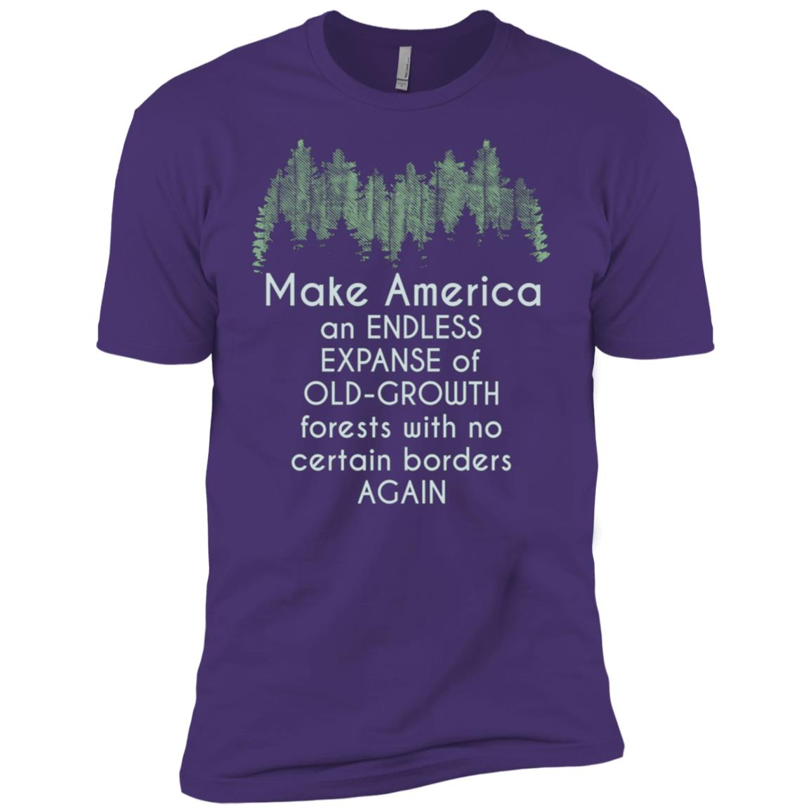 Anti-Trump Resistance Old Growth Forests No Border Again Sci Men Short Sleeve T-Shirt