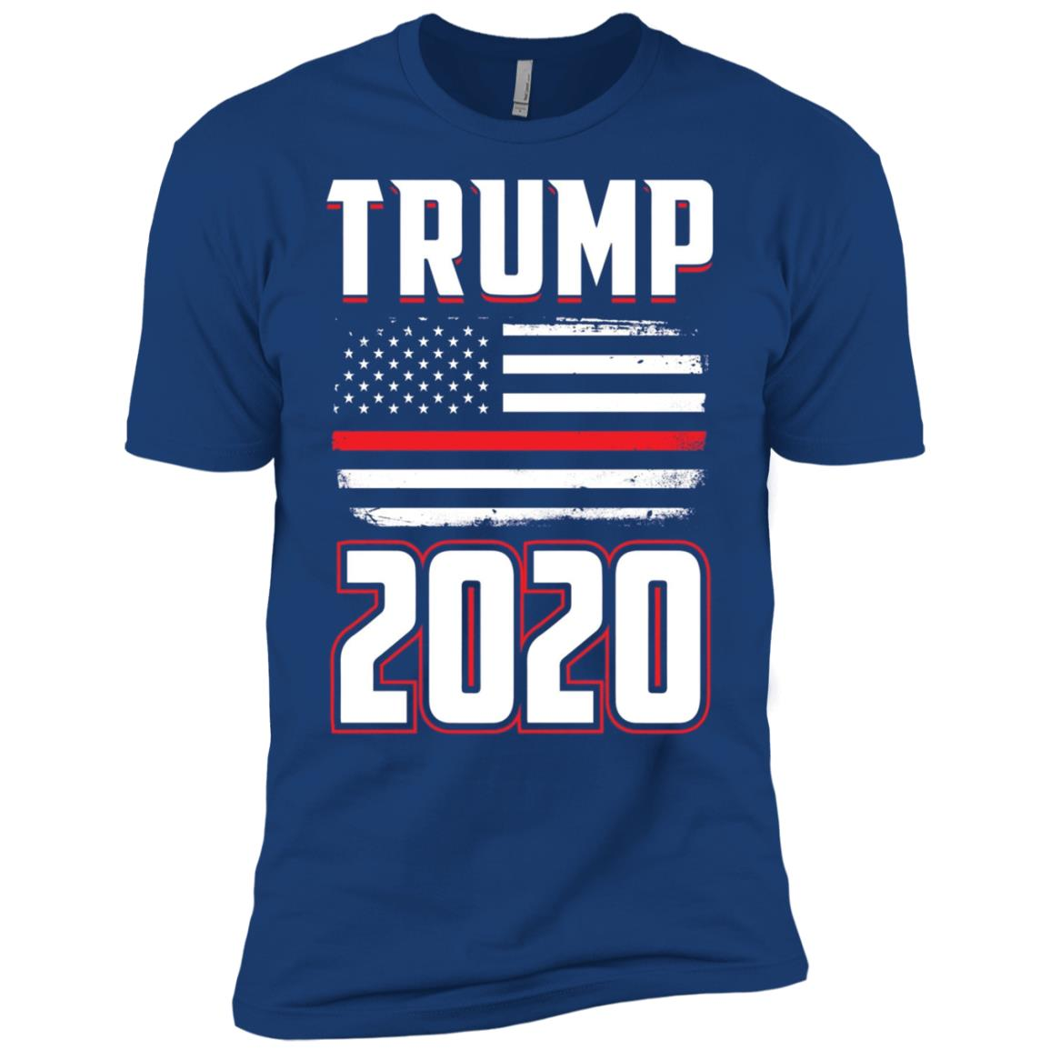 American Flag Trump 2020 Distressed USA Men Short Sleeve T-Shirt