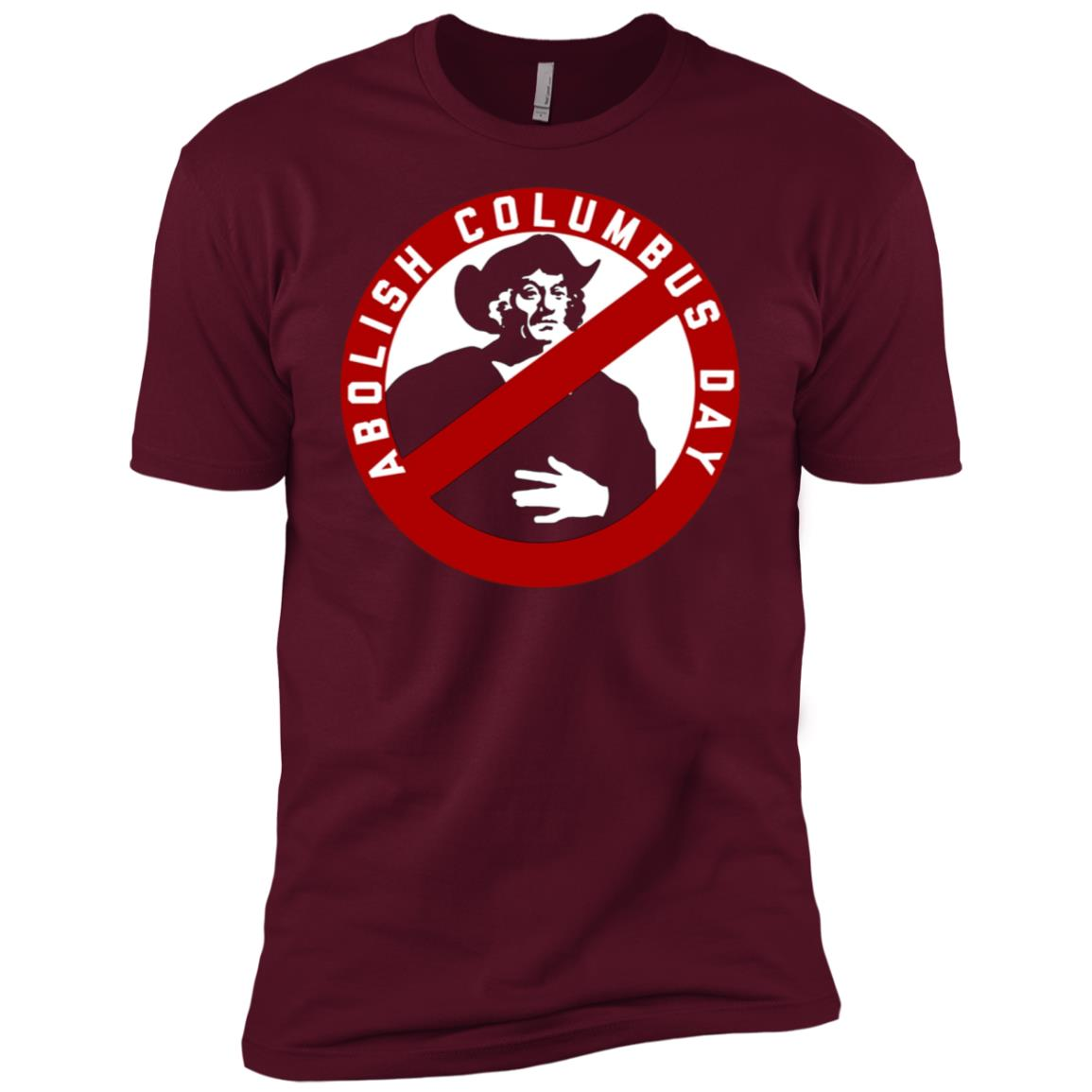 Abolish Columbus Day – Men Short Sleeve T-Shirt