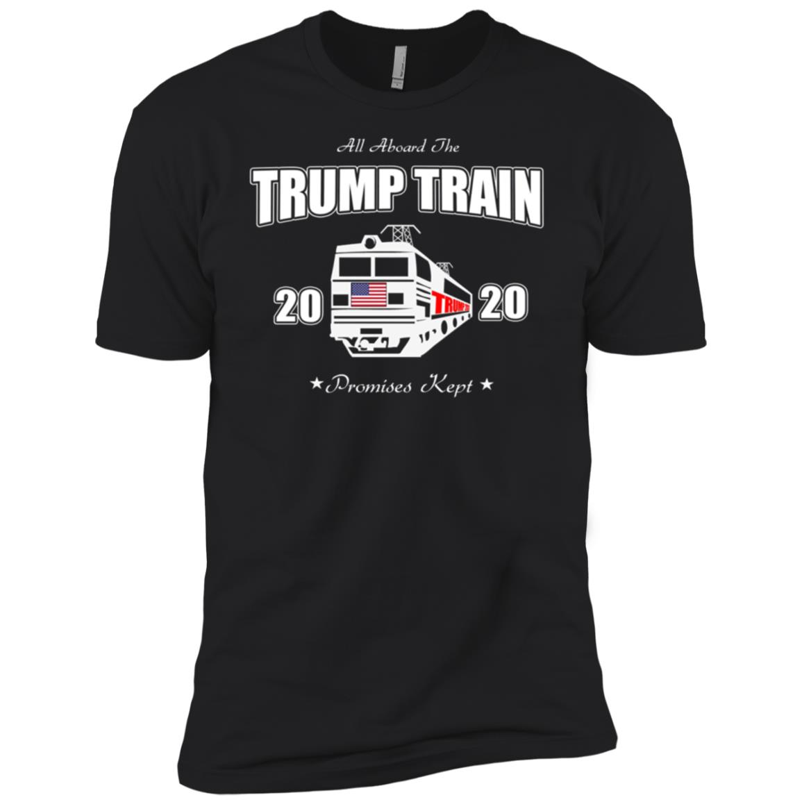 Aboard President Trump Train 2020 Re Elect US Patriot Flag T-4 Men Short Sleeve T-Shirt
