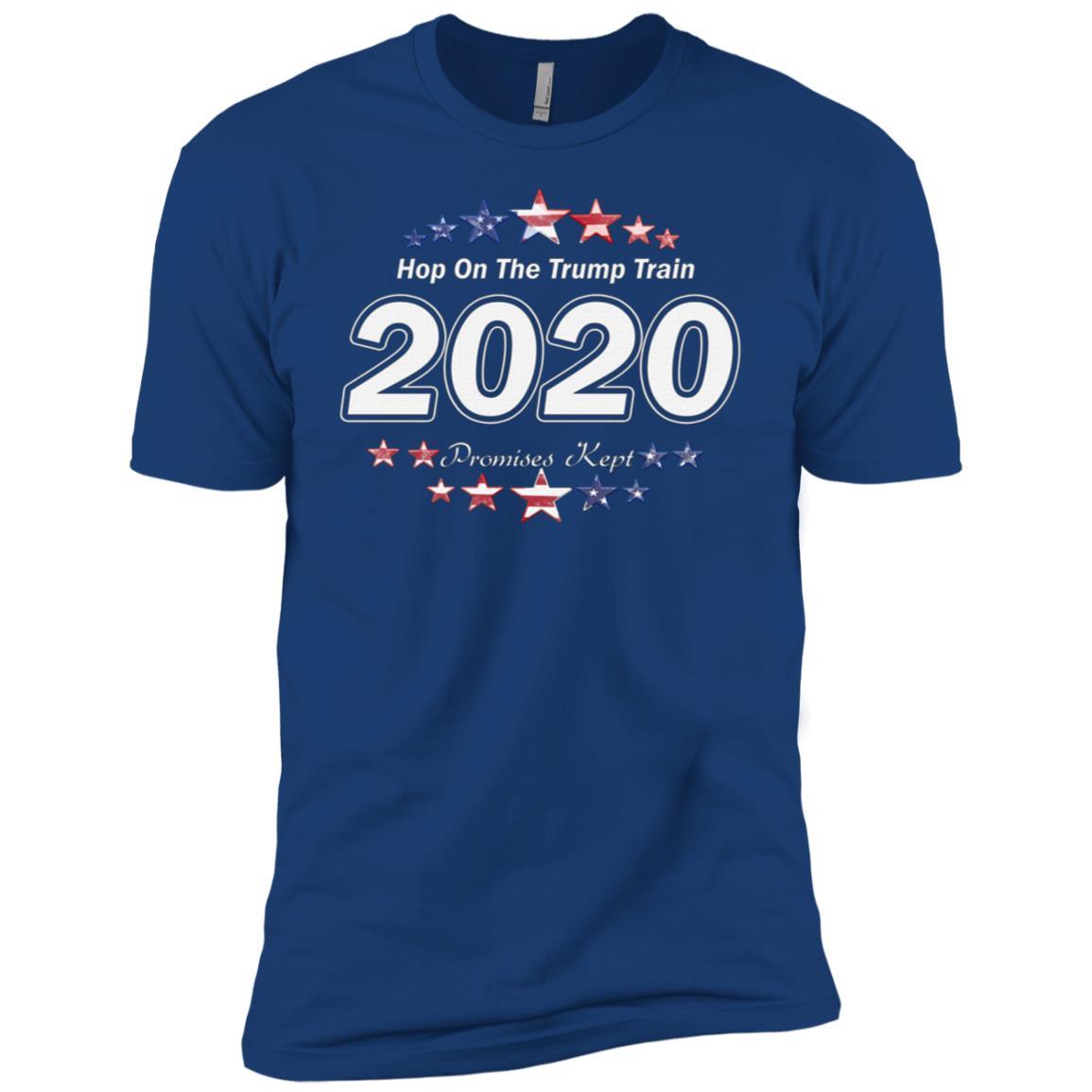 Aboard President Trump Train 2020 Re Elect US Patriot Flag T-3 Men Short Sleeve T-Shirt