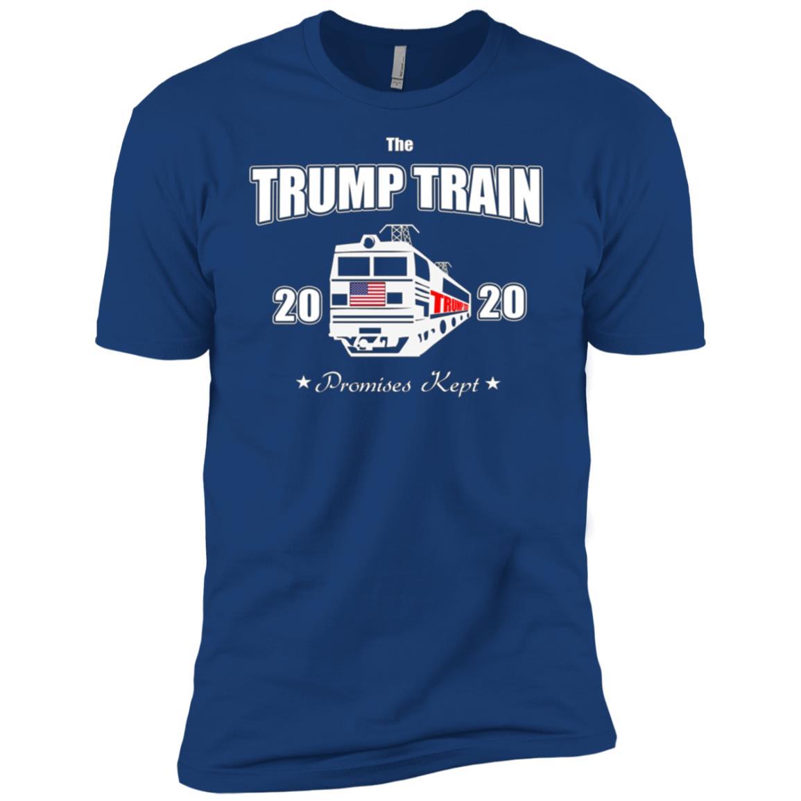 Aboard President Trump Train 2020 Re Elect US Patriot Flag T-2 Men Short Sleeve T-Shirt