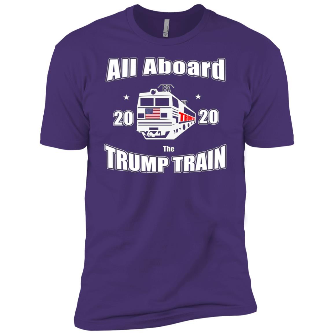 Aboard President Trump Train 2020 Re Elect US Patriot Flag T Men Short Sleeve T-Shirt