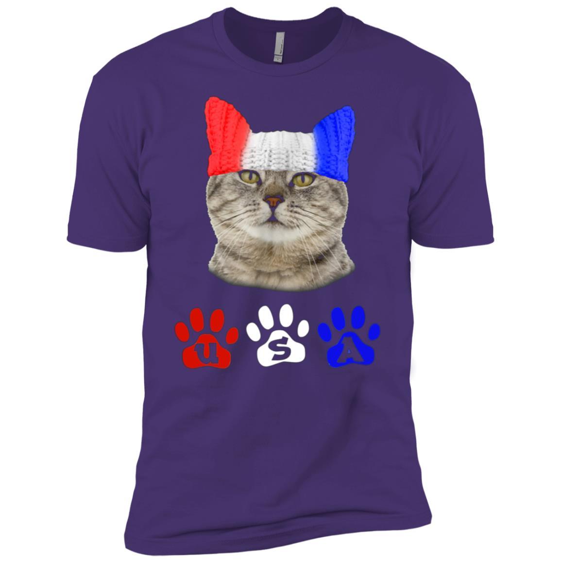 4th of July USA Cat Men Short Sleeve T-Shirt