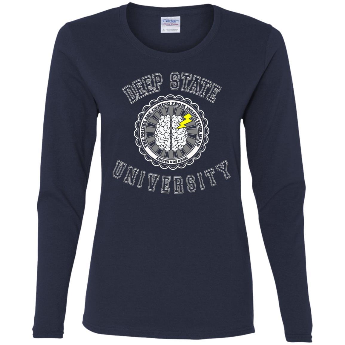 Deep State University Political Resistance Winter Women Long Sleeve T-Shirt