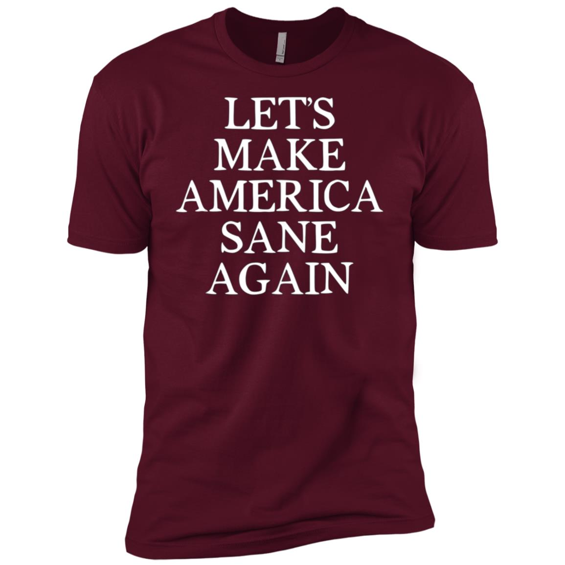 Let's Make America Sane Again Political Trump American Men Short Sleeve T-Shirt