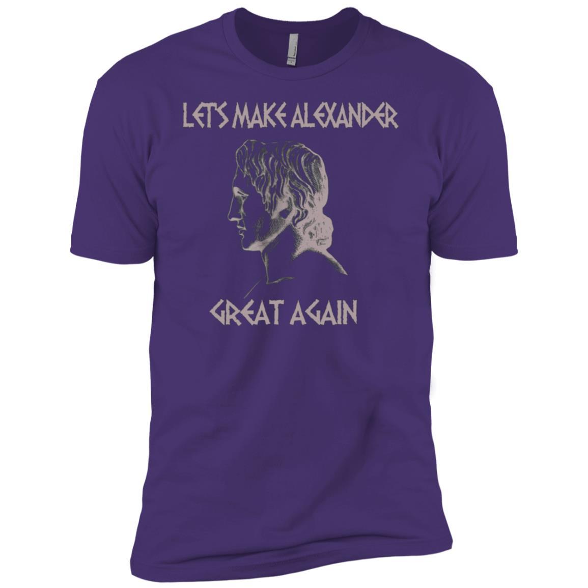 Let's make Alexander great again funny history Men Short Sleeve T-Shirt