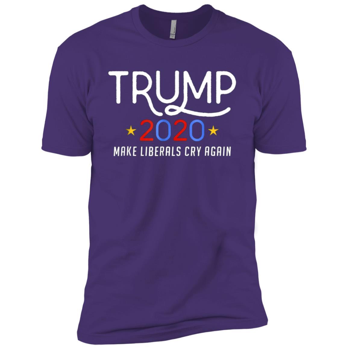 Funny Trump 2020 Make Liberals Cry Again Tee-1 Men Short Sleeve T-Shirt