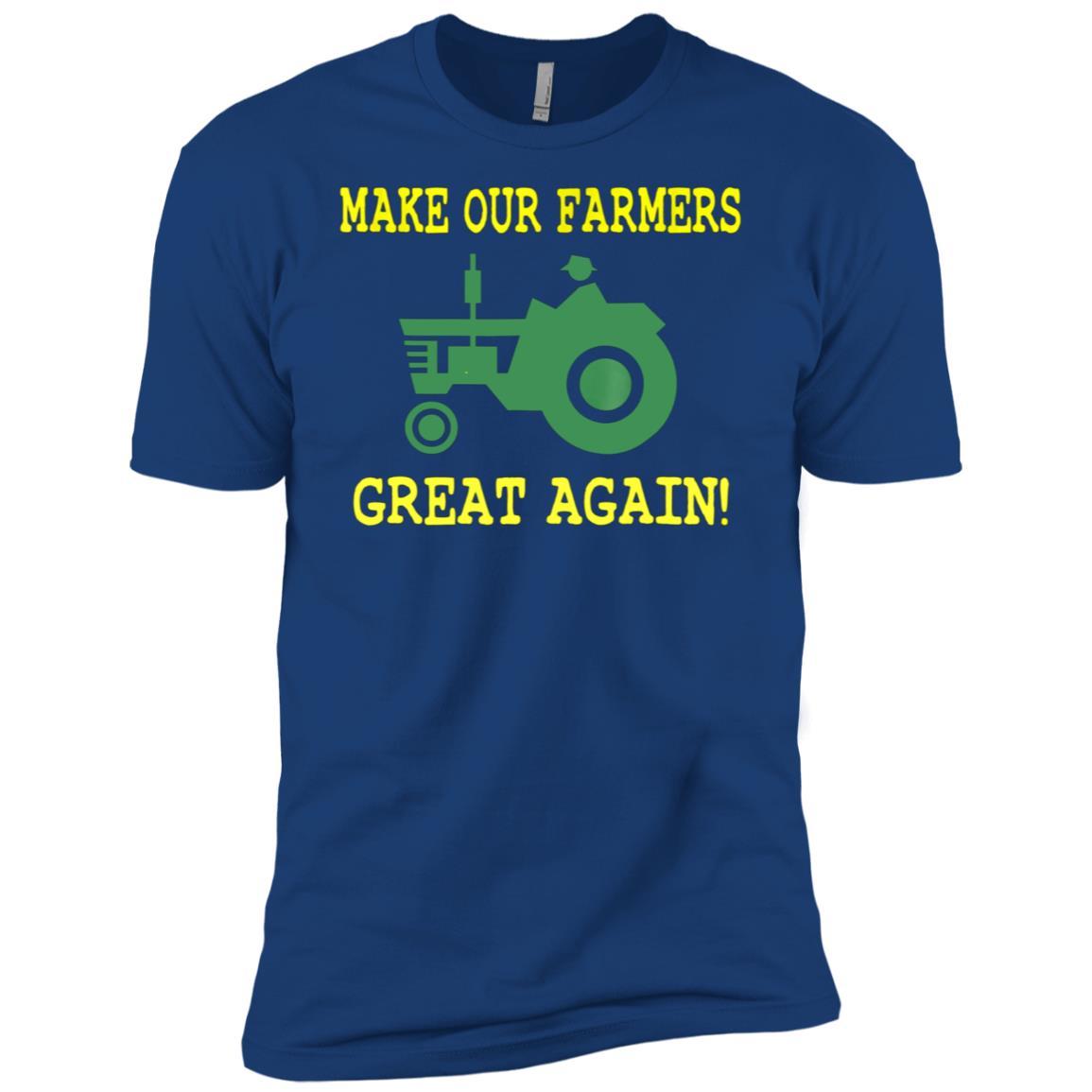 Farmers Great Again Pro Trump Farming Men Short Sleeve T-Shirt