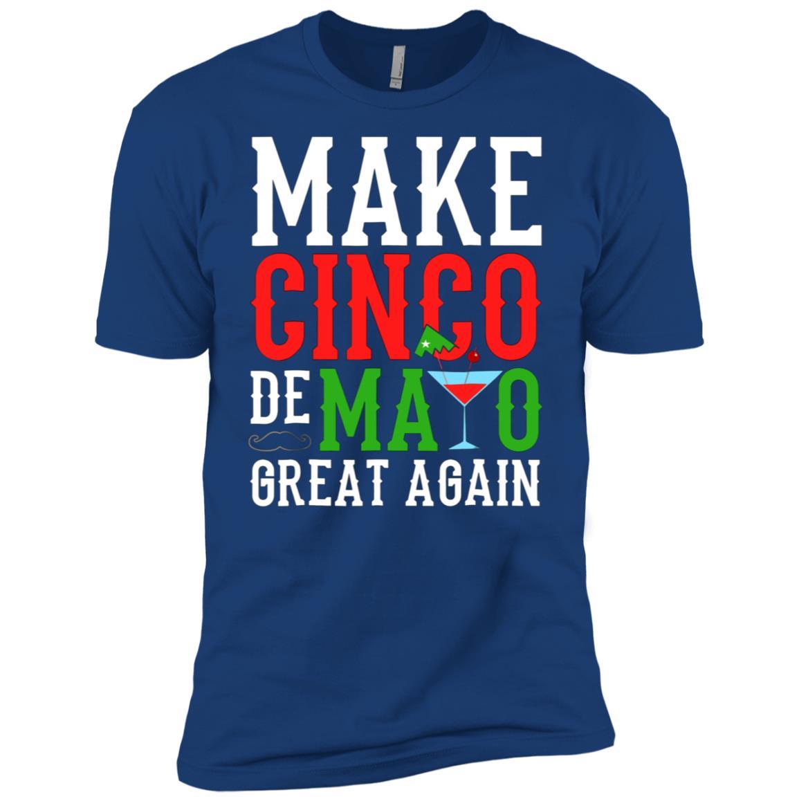 Funny Cinco De Mayo Make Cinco De Mayo Great Again KP Men Short Sleeve T-Shirt