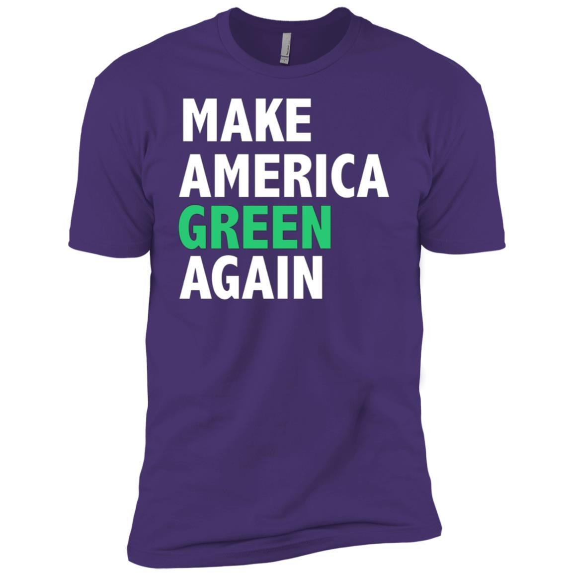 Make America Green Again Funny Earth Day Environment Men Short Sleeve T-Shirt