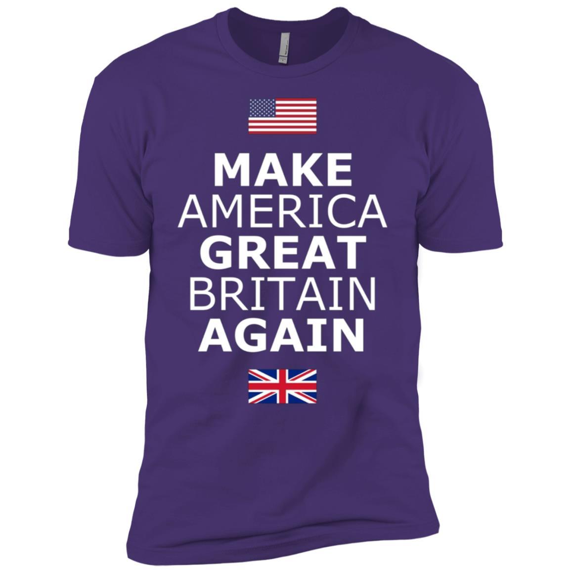 Make America Great Britain Again w Flags Men Short Sleeve T-Shirt