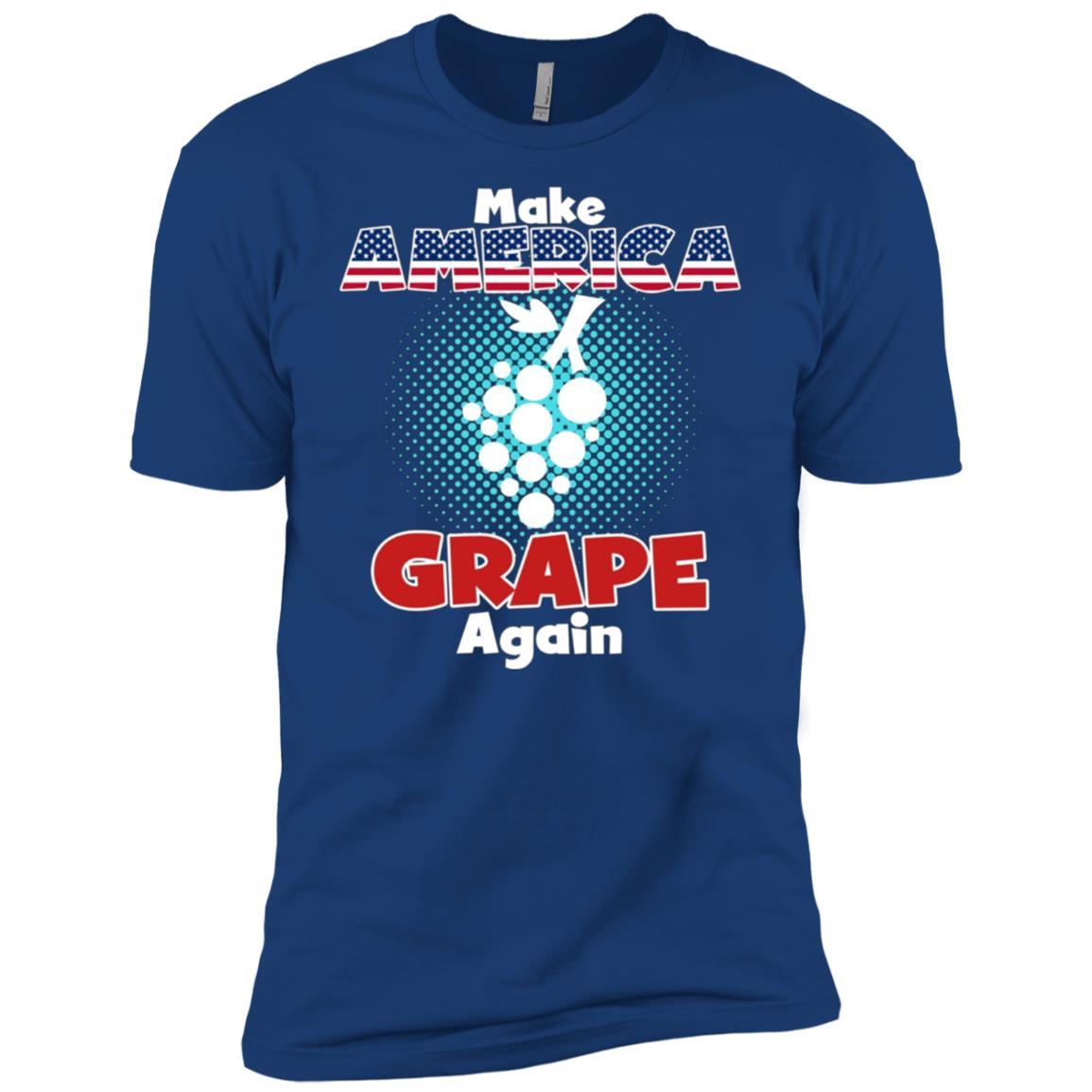 Make America Grape Again Funny Patriotic Satire Men Short Sleeve T-Shirt