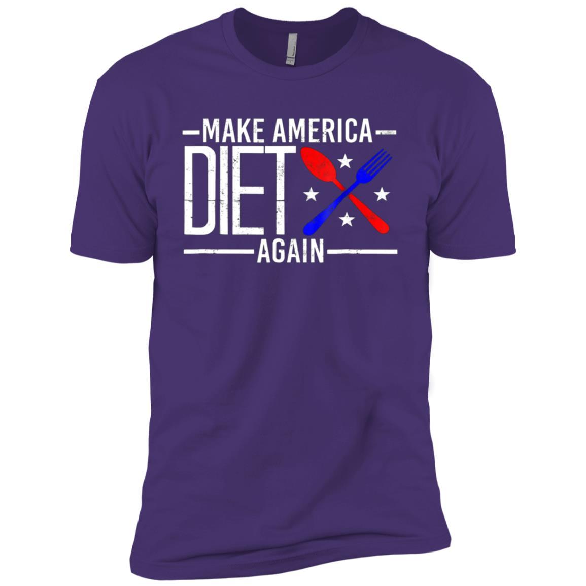 Make America Diet Again Health Dieting Fitness Tee Men Short Sleeve T-Shirt