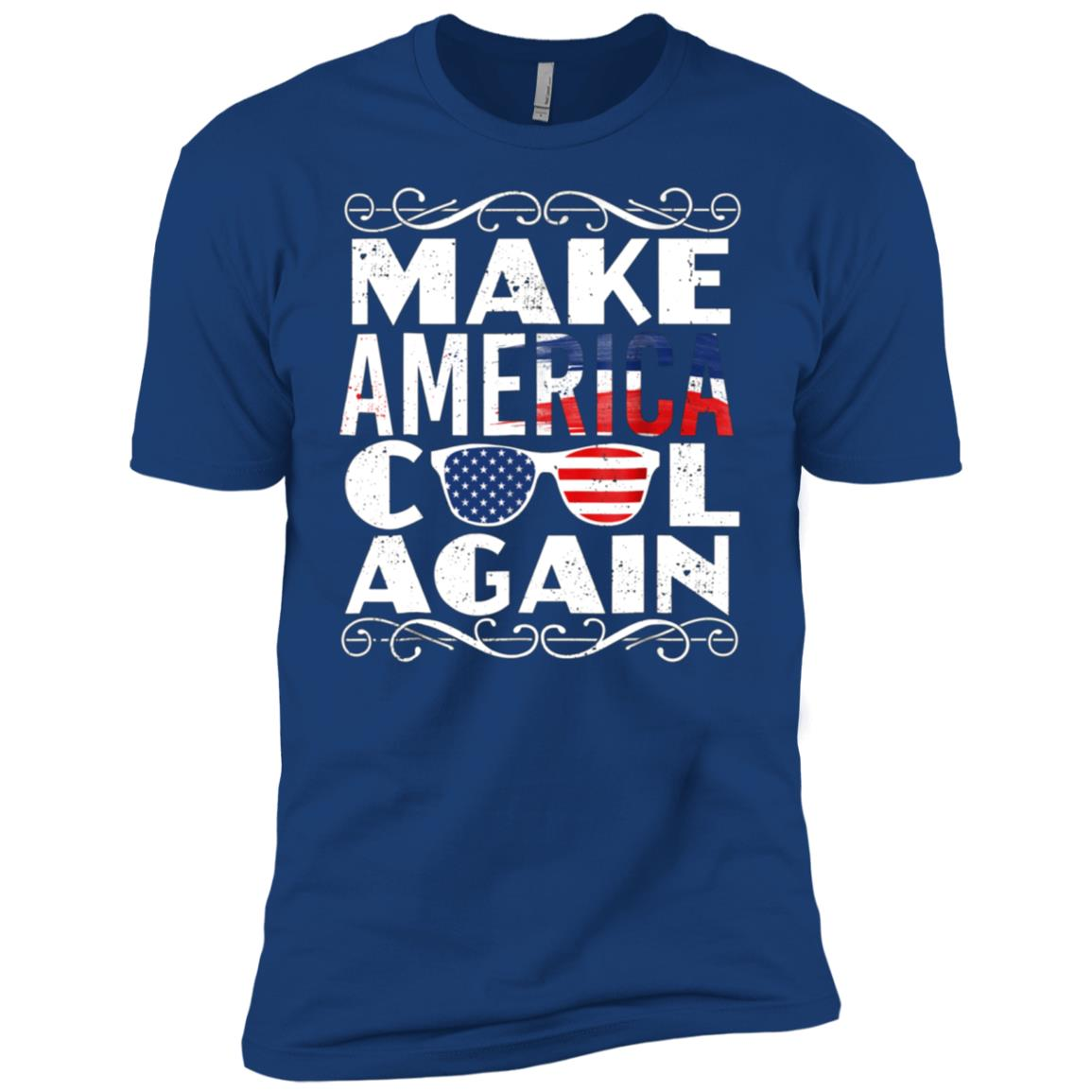 Make America Cool Again Funny USA Sunglasses Tee Men Short Sleeve T-Shirt