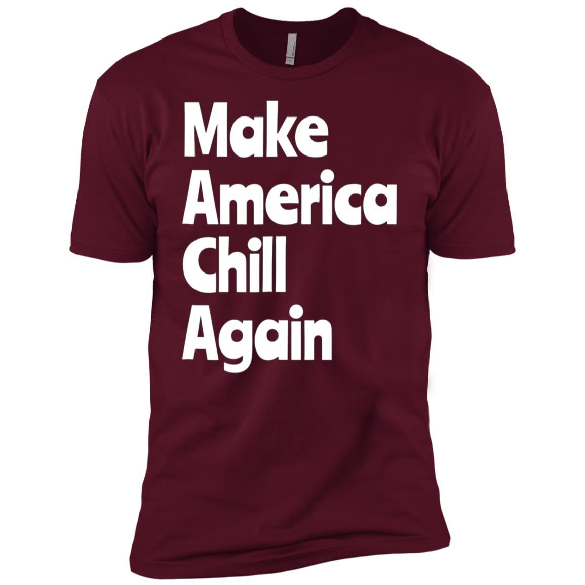 Make America Chill Again Funny Gift Yoga Meditation Men Short Sleeve T-Shirt