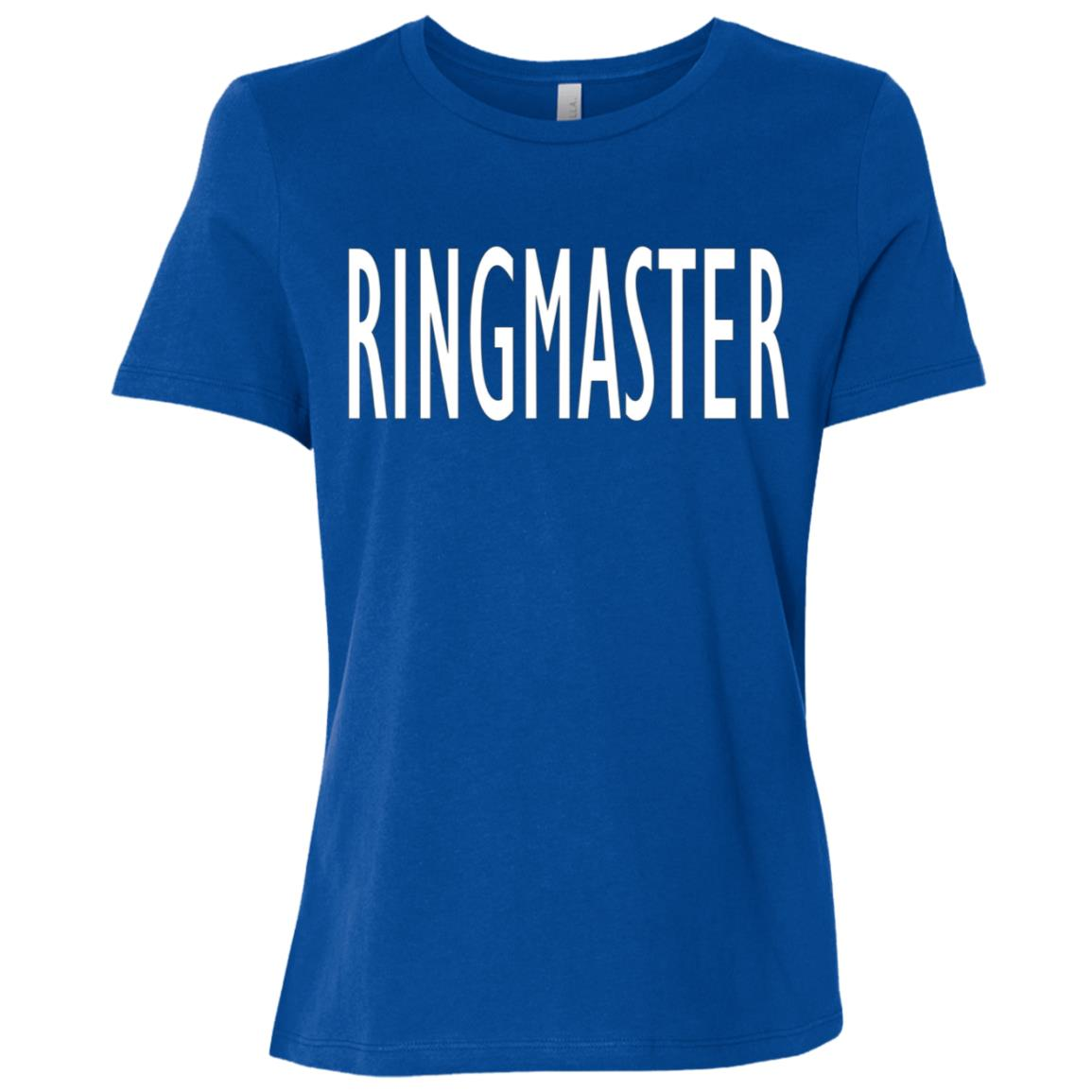 Funny Busy Parent Mom Dad Ringmaster Costume Women Short Sleeve T-Shirt