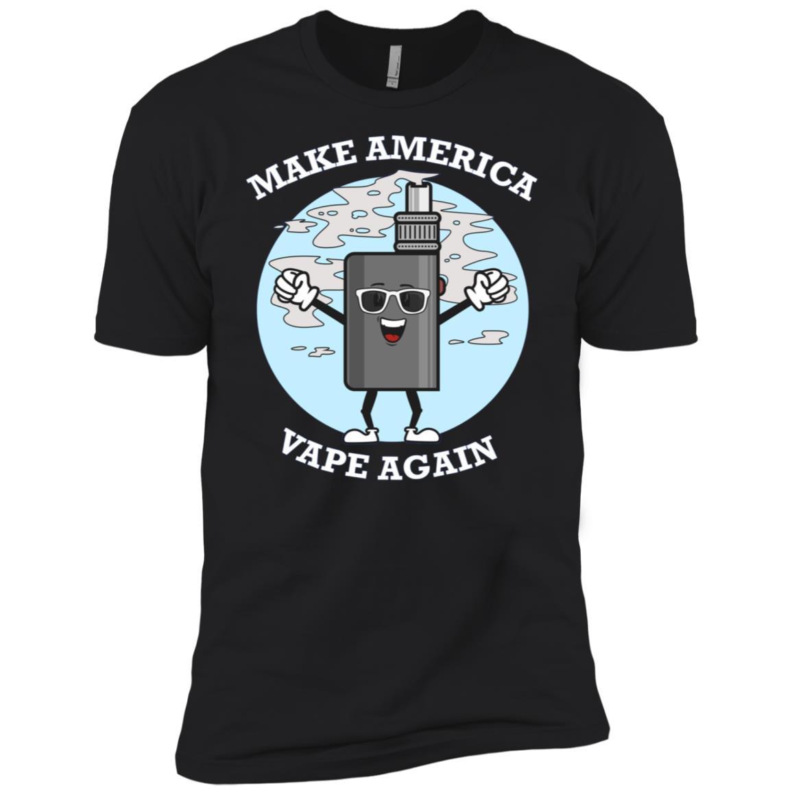 Make America Vape Again Cool Vaping Men Short Sleeve T-Shirt