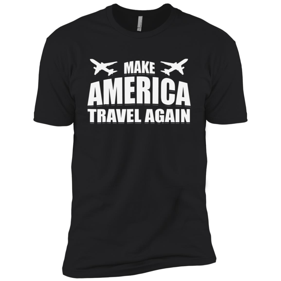 Make America Travel Again Airplane Tee Men Short Sleeve T-Shirt