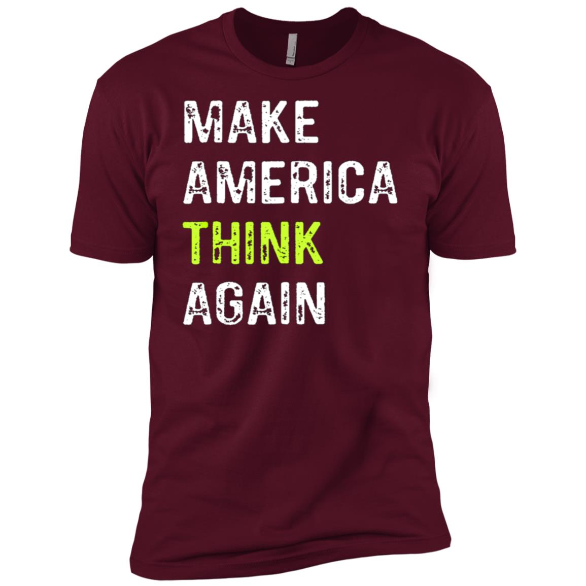 Make America Think Again Anti-Trump Men Short Sleeve T-Shirt