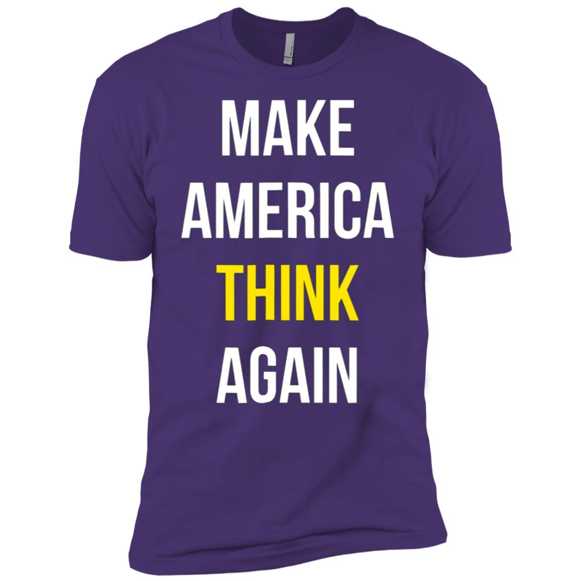 Make America Think Again – Anti-Trump Tee Playera Men Short Sleeve T-Shirt