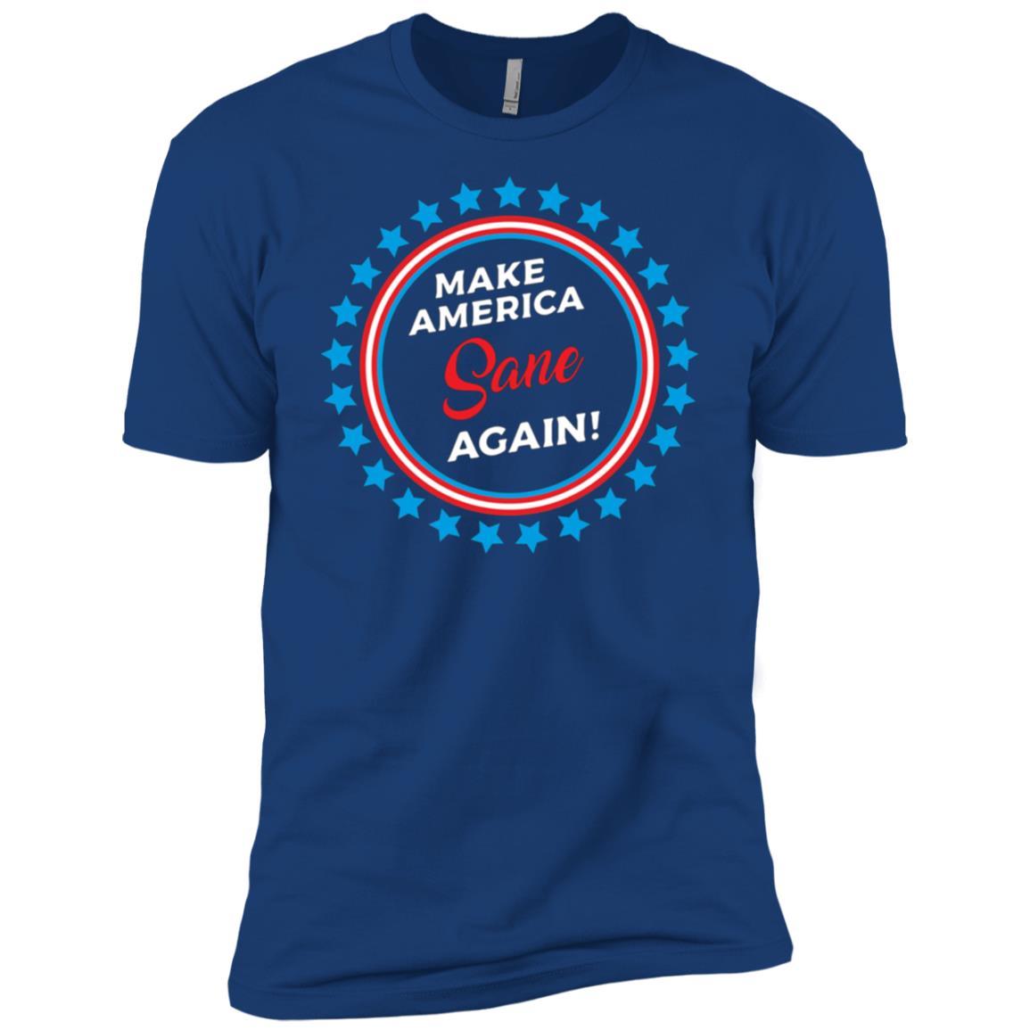 Make America Sane Again, Anti Trump Political Men Short Sleeve T-Shirt