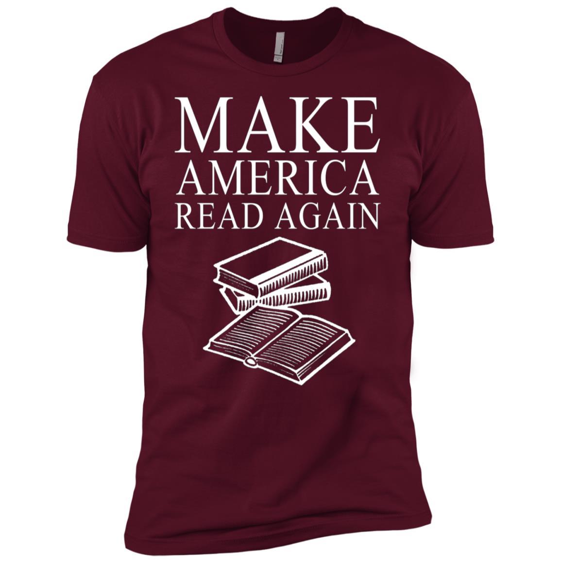 Make America Read Again Reading Library Men Short Sleeve T-Shirt