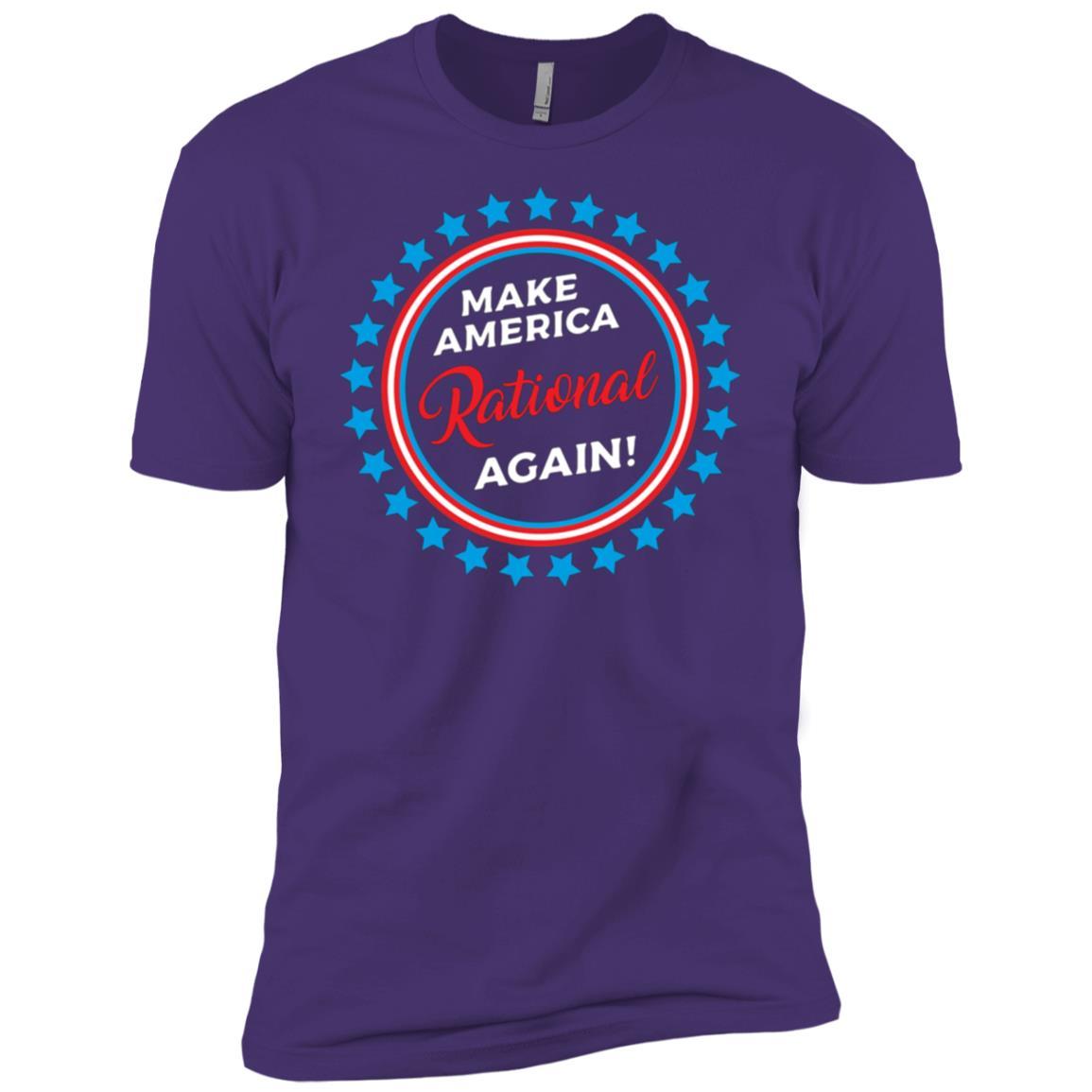 Make America Rational Again Anti Trump Political Men Short Sleeve T-Shirt