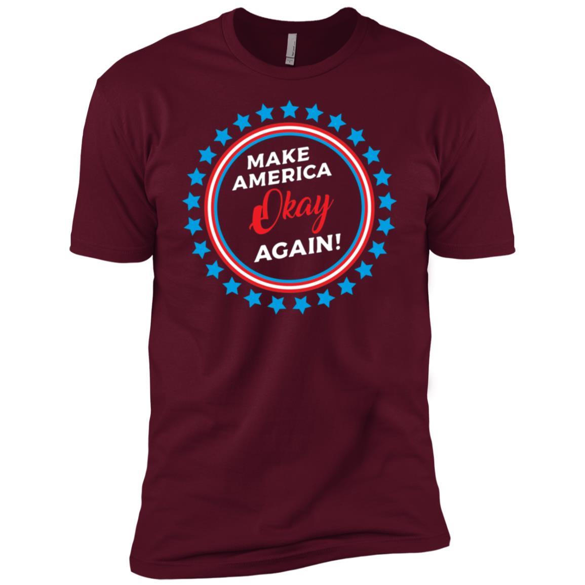 Make America Okay Again, Anti Trump Political Men Short Sleeve T-Shirt