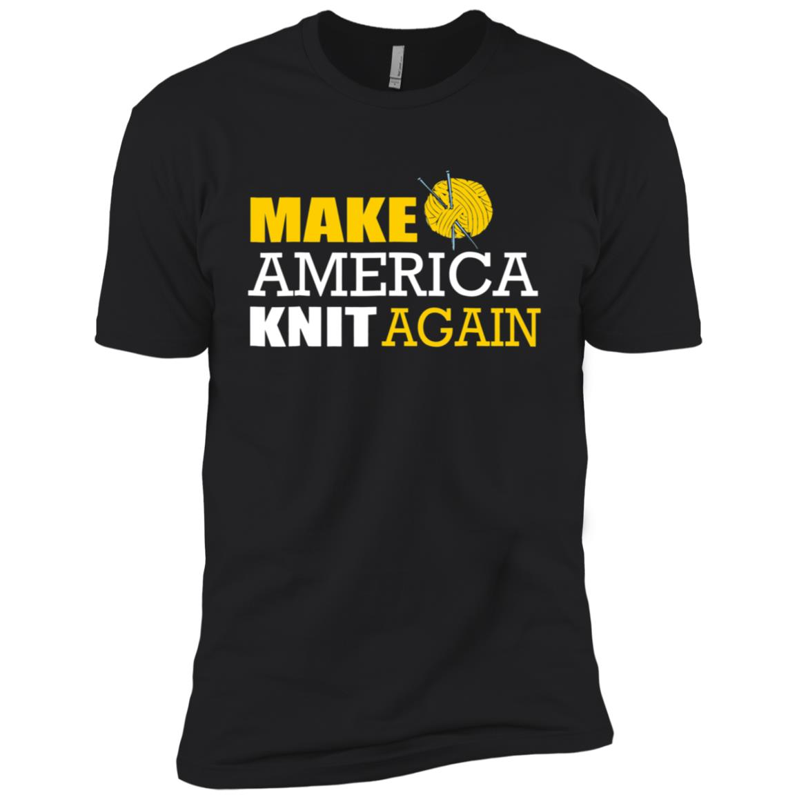 Make America Knit Again Funny Knitting Tee Men Short Sleeve T-Shirt