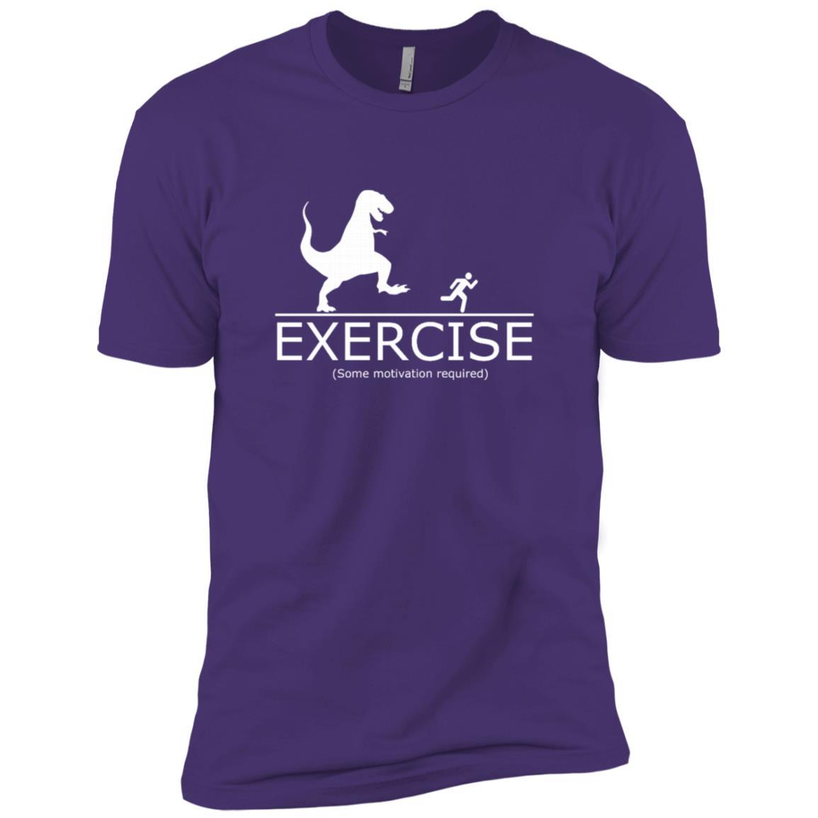 Funny Exercise Motivation Required Running T-Rex Men Short Sleeve T-Shirt