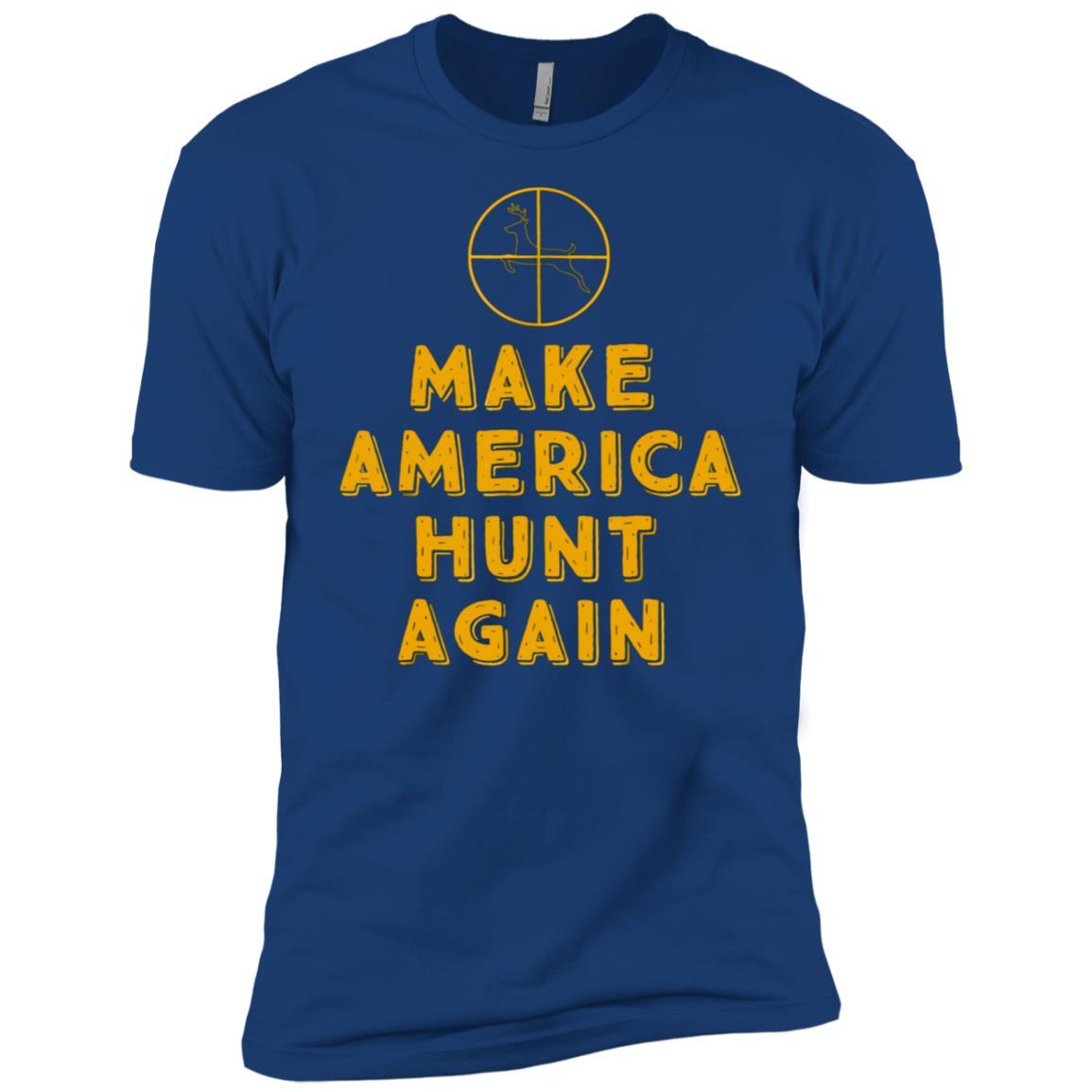 Make America Hunt Again Funny Hunter Tee Men Short Sleeve T-Shirt