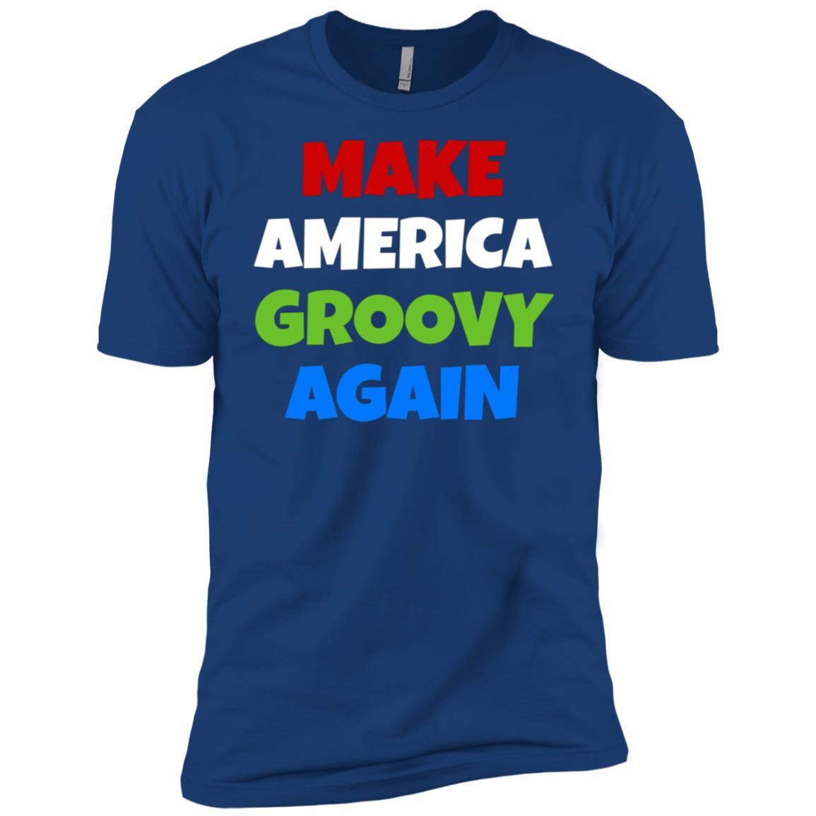 Make America Groovy Again Retro Fun Whimsical Cool Men Short Sleeve T-Shirt
