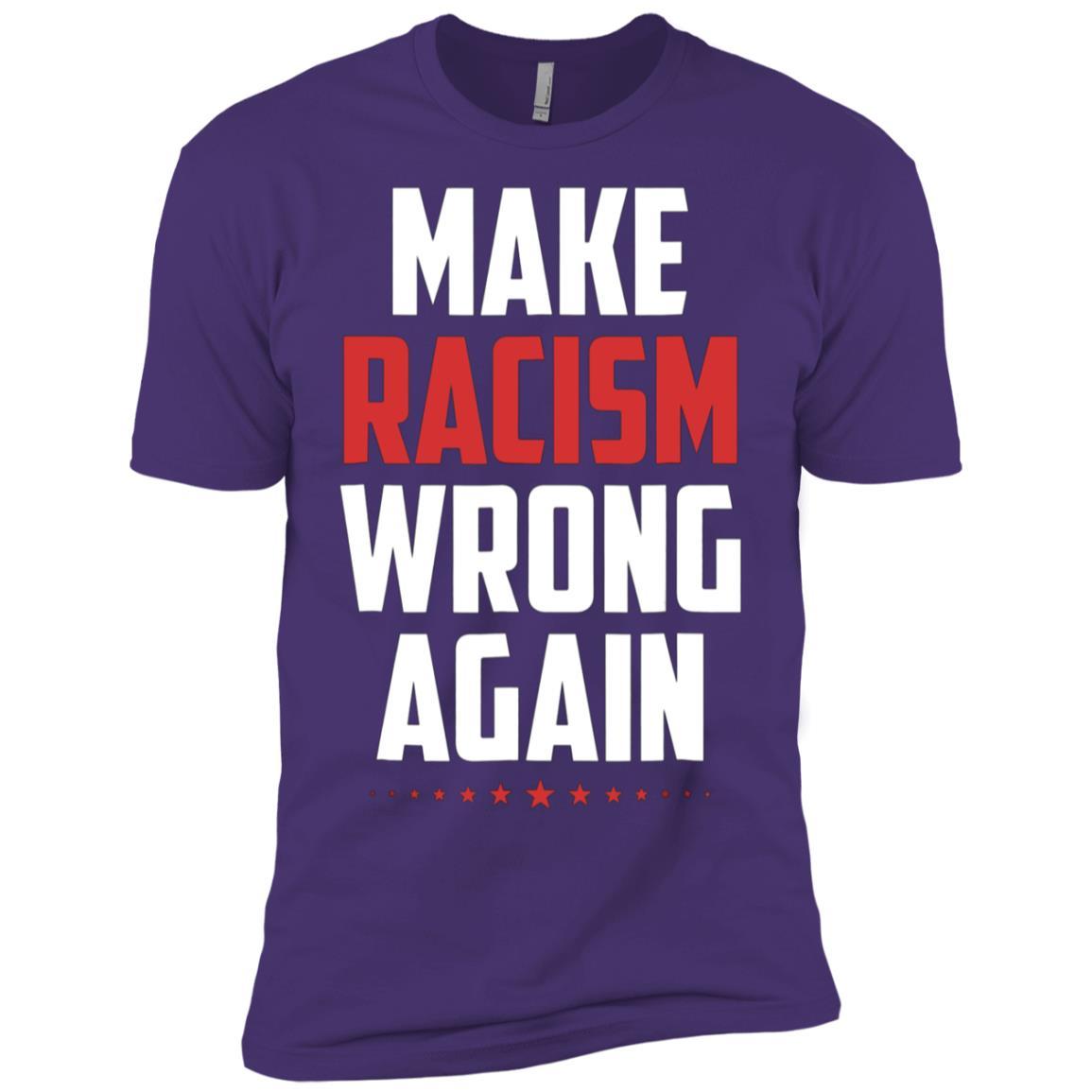 Make Racism Wrong Again Men Short Sleeve T-Shirt