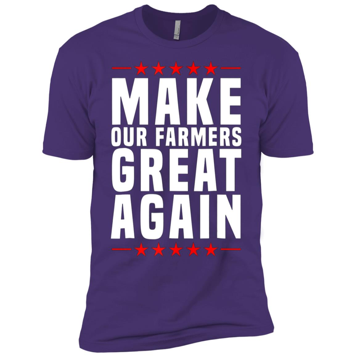 Make Our Farmers Great Again US Farm Life Tee Men Short Sleeve T-Shirt