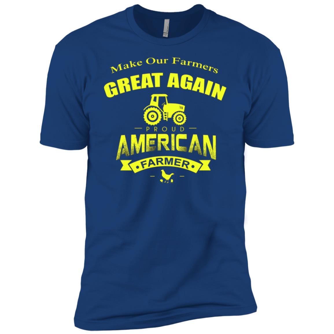 Make Our Farmers Great Again American Patriot Trump Gift T-1 Men Short Sleeve T-Shirt