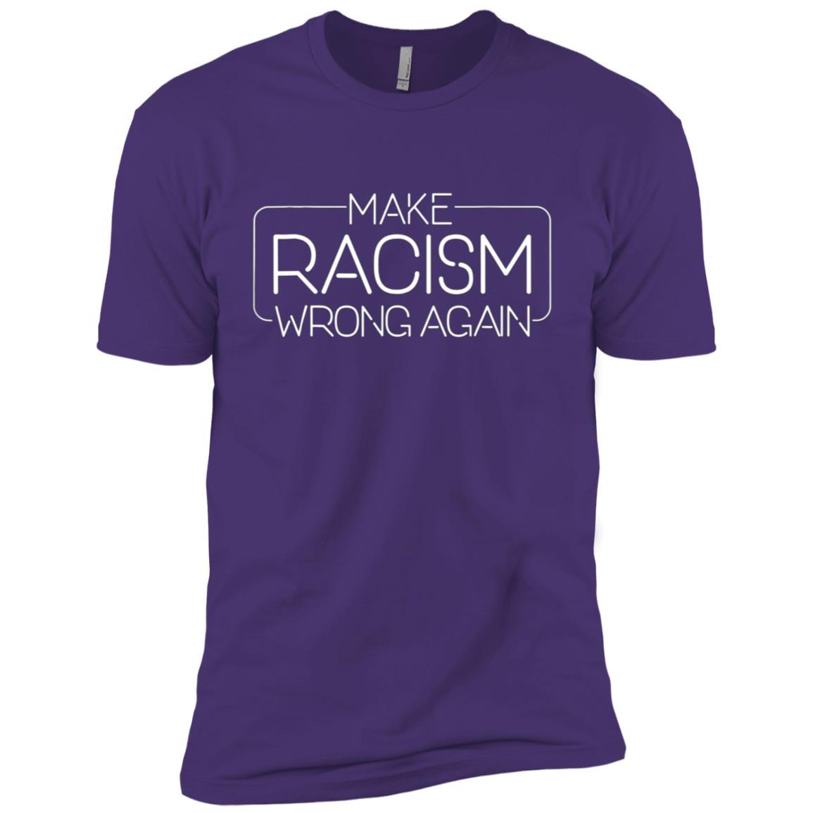 Make Racism Wrong Again – Unite Against Racism -2 Men Short Sleeve T-Shirt