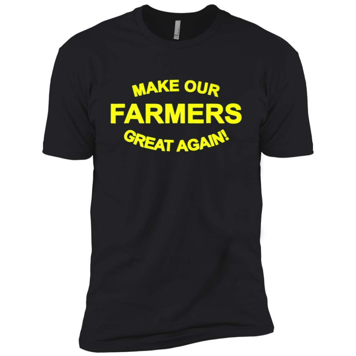 Make Our Farmers Great Again-Trump Farm Signs Men Short Sleeve T-Shirt