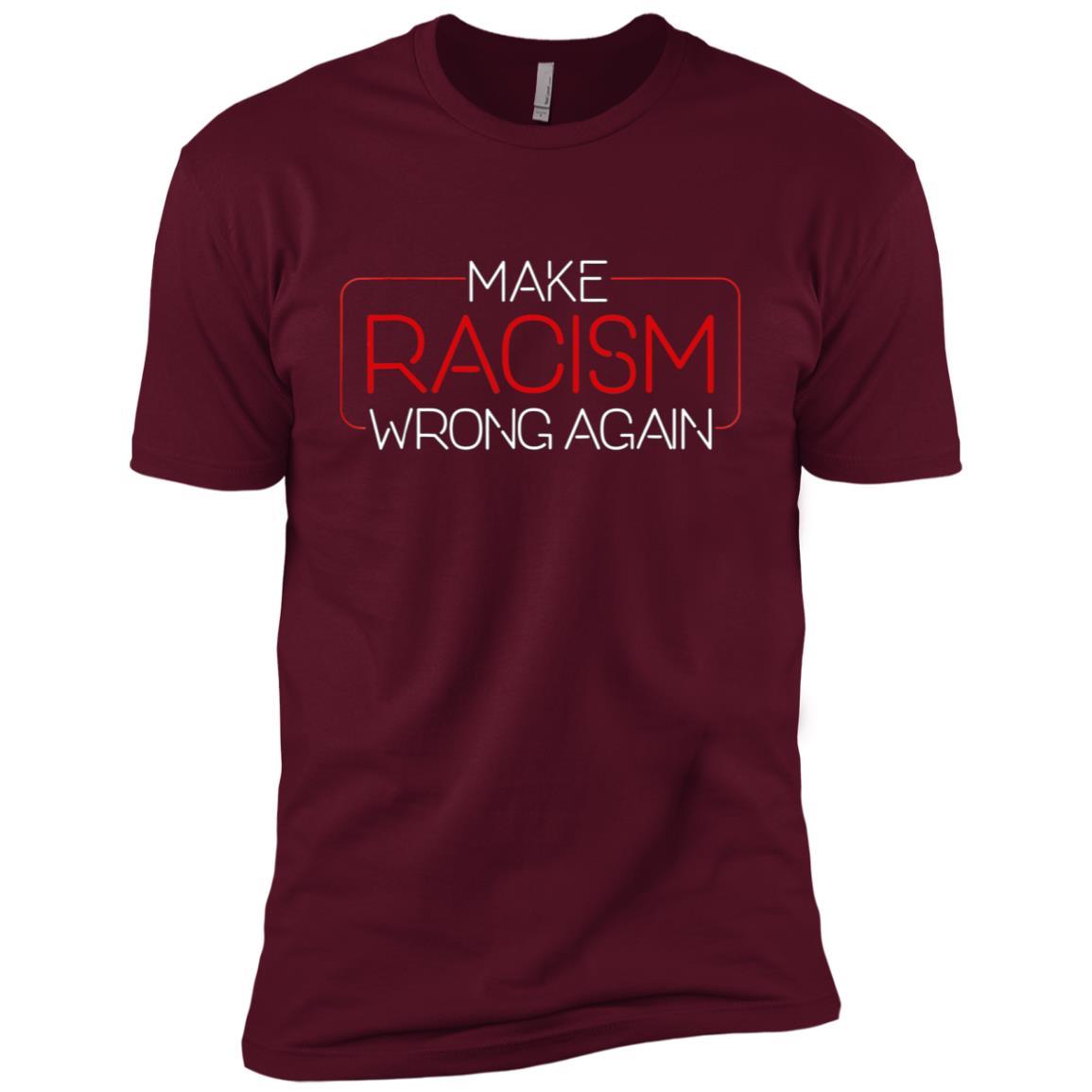 Make Racism Wrong Again – Unite Against Racism Men Short Sleeve T-Shirt