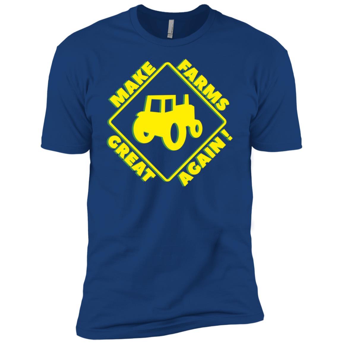 Make Our Farmers Great Again-Retro Farming Men Short Sleeve T-Shirt