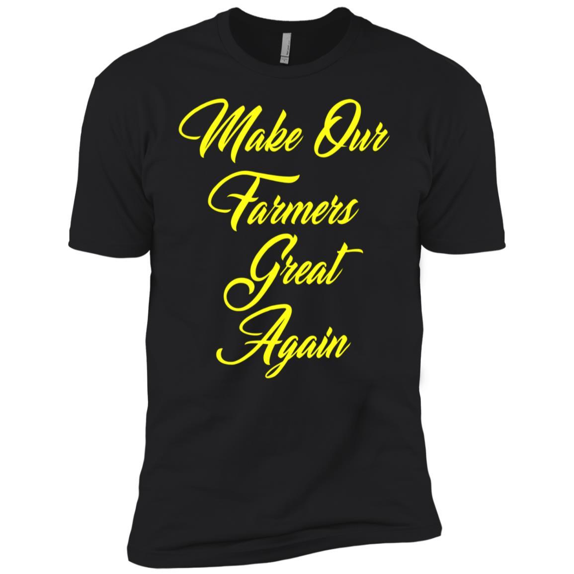 Make Our Farmers Great Again American Farm Life Tee Men Short Sleeve T-Shirt