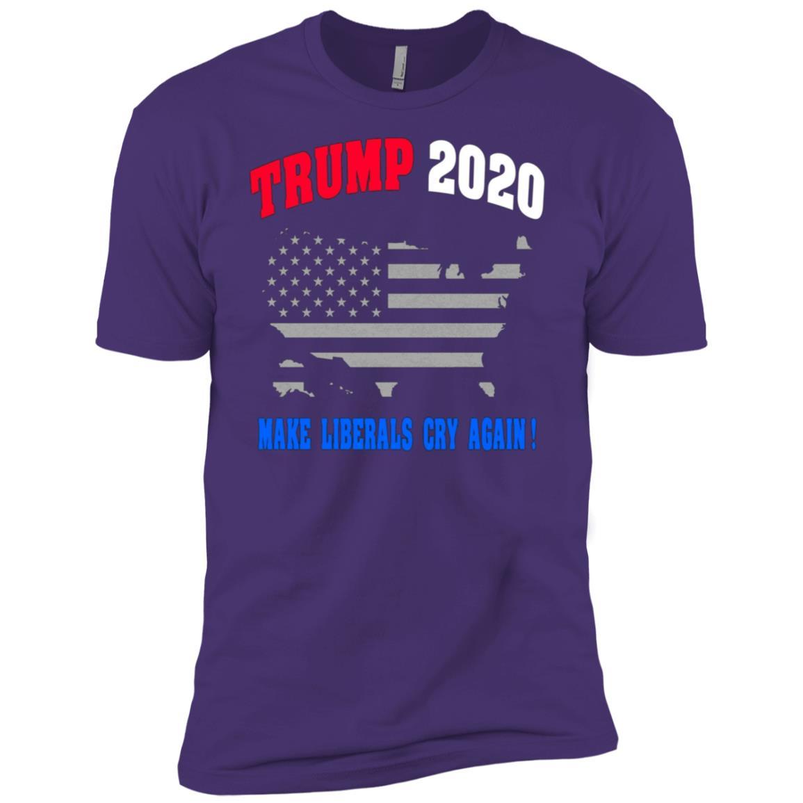 Make Liberals Cry Again Trump Election 2020 GOP Gift Men Short Sleeve T-Shirt