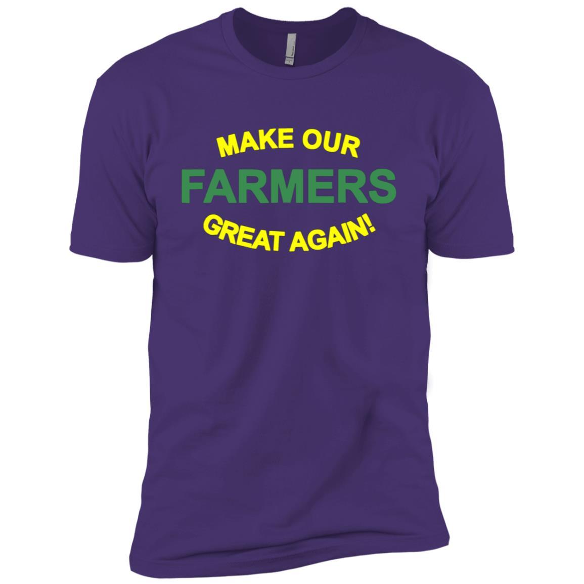 Make Farmers Great Again Hat -TRUMP Farming Men Short Sleeve T-Shirt
