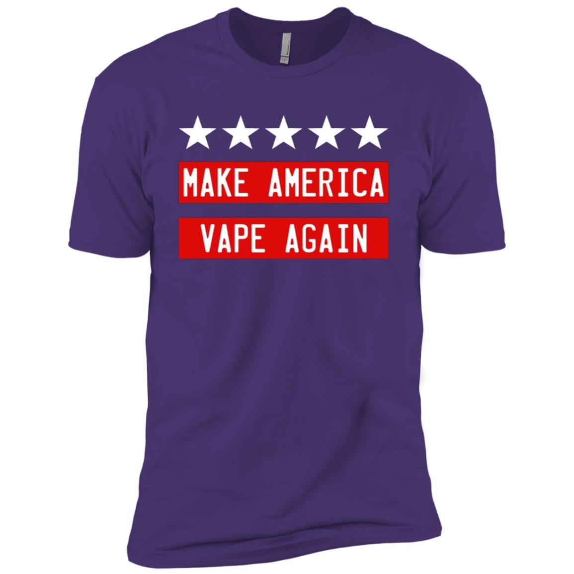 Make America Vape Again Funny Vapor Vaping Great Men Short Sleeve T-Shirt